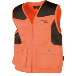 GILET ANTI-RONCES ORANGE ENFANT 600D
