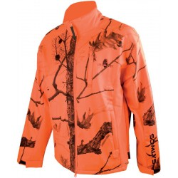 BLOUSON SOMLYS POLAIRE CAMOUFLAGE ORANGE