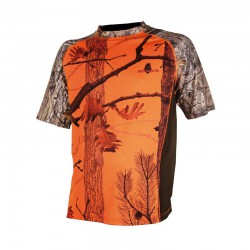 TEE SHIRT CAMOU ORANGE ENFANT