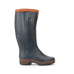 BOTTE DOUBLEE CUIR PARCOURS 2 SIGN OPEN CHASSE AIGLE