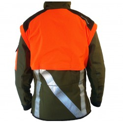 VESTE DE TRAQUE HORIZON PFANNER VERT/ORANGE